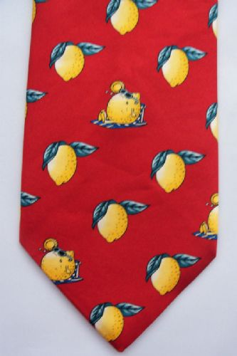 Sunbathing Lemons - Novelty Tie